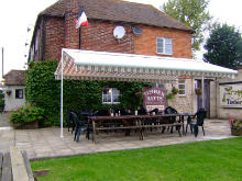 Pub beer garden awning