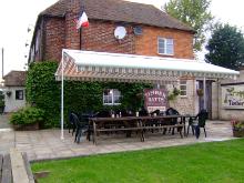 Pub beer garden awning