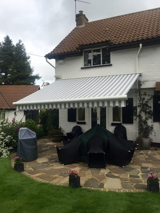 Patio awning installation