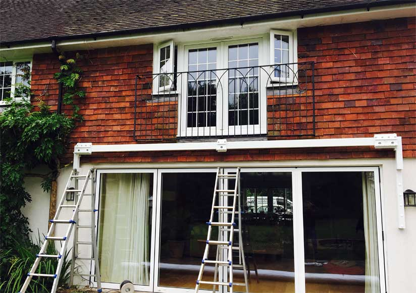 Fitting The Awning on Brackets